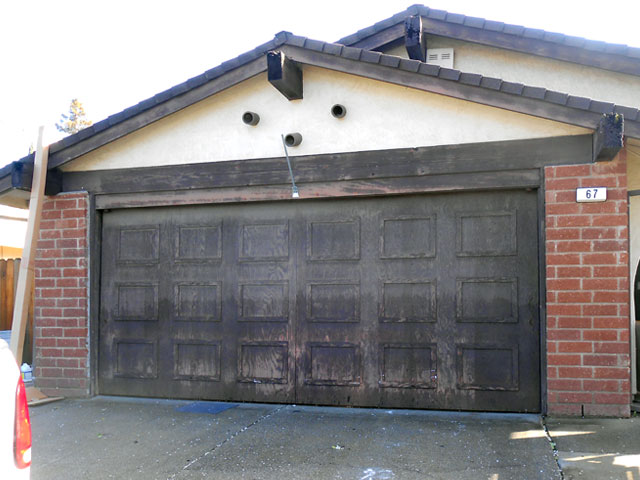 Change wood garage door to roll up door roseville for Sacramento garage doors