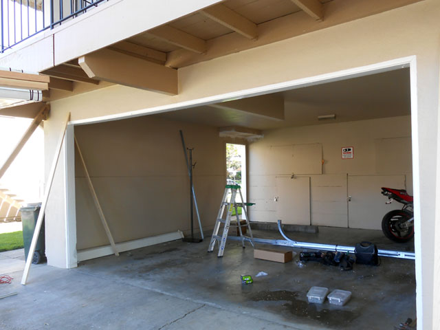 Convert sacramento carport to enclosed garage with for Sacramento garage doors